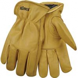 Kinco International-Lined Grain Cowhide Glove-Tan-Large