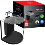 Aquatop Aquatic Supplies - Pisces Nano Bowfront Glass Aquarium - Black - 3 Gallon