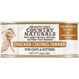 Grandma Mae's Country Naturals - Country Naturals Grain Free Cat & Kitten Chunks - Chicken - 2.8 Oz