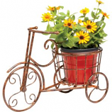 Deer Park Ironworks - Sunburst Bike Planter - Natural Patina