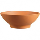 Southern Patio - Clay Low Bowl - Terra Cotta - 12 Inch